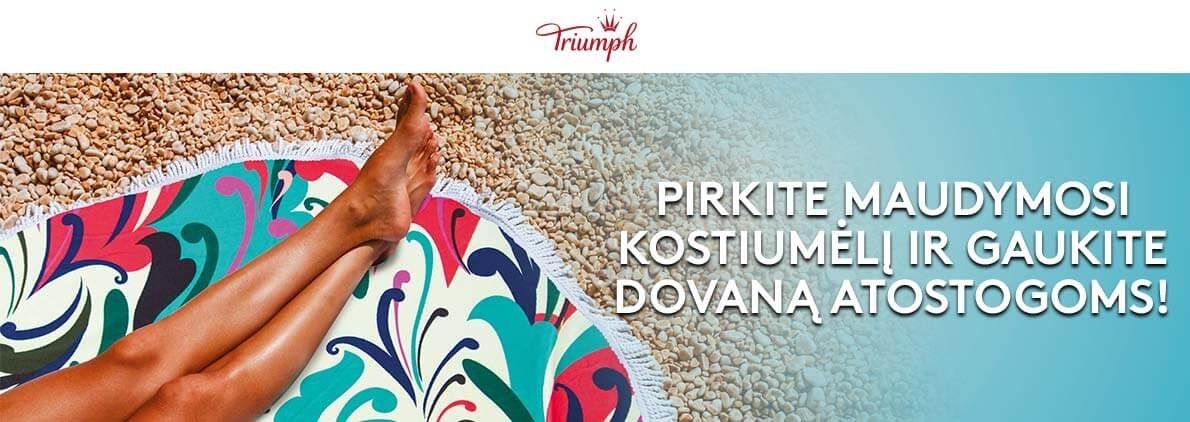 Triumph DOVANA Jūsų atostogoms - paplūdimio rankšluostis ar gertuvė!